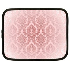 Luxury Pink Damask Netbook Case (xl) by ADIStyle