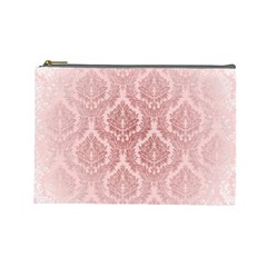 Luxury Pink Damask Cosmetic Bag (large) by ADIStyle