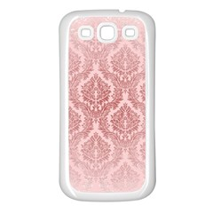 Luxury Pink Damask Samsung Galaxy S3 Back Case (white) by ADIStyle