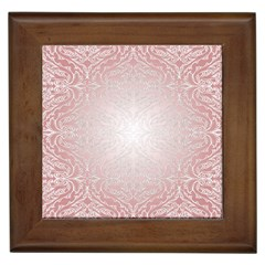 Pink Damask Framed Ceramic Tile by ADIStyle
