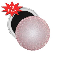 Pink Damask 2 25  Button Magnet (10 Pack) by ADIStyle