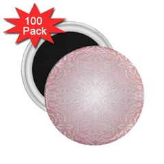 Pink Damask 2 25  Button Magnet (100 Pack) by ADIStyle