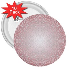 Pink Damask 3  Button (10 Pack) by ADIStyle