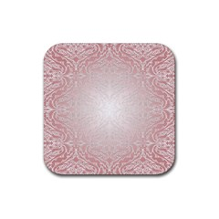 Pink Damask Drink Coaster (square) by ADIStyle