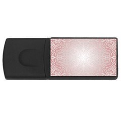 Pink Damask 4gb Usb Flash Drive (rectangle) by ADIStyle