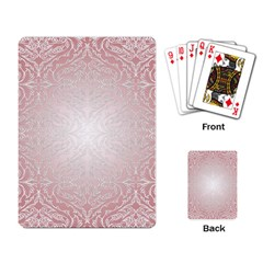 Pink Damask Playing Cards Single Design by ADIStyle