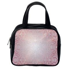 Pink Damask Classic Handbag (one Side) by ADIStyle