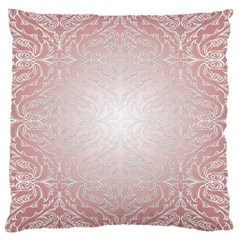 Pink Damask Large Cushion Case (two Sides) by ADIStyle