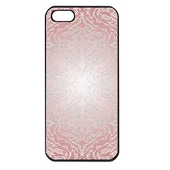 Pink Damask Apple Iphone 5 Seamless Case (black) by ADIStyle