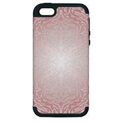 Pink Damask Apple Iphone 5 Hardshell Case (pc+silicone) by ADIStyle