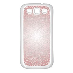 Pink Damask Samsung Galaxy S3 Back Case (white)