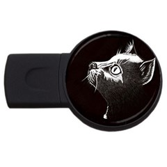Shadow Cat 4gb Usb Flash Drive (round) by CMCreations