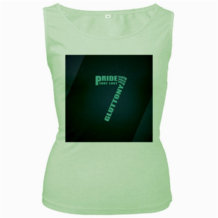Seven Women s Green Tank Top