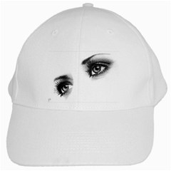 Eyes  White Baseball Cap