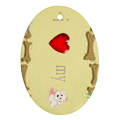 I Love My Dog! Ii Oval Ornament