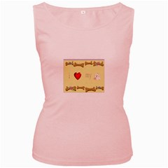 I Love My Dog! Ii Womens  Tank Top (pink) by mysticalimages