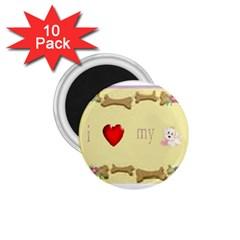 I Love My Dog! Ii 1 75  Button Magnet (10 Pack)