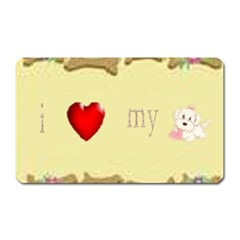 I Love My Dog! Ii Magnet (rectangular) by mysticalimages