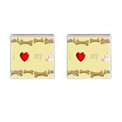 I Love My Dog! Ii Cufflinks (square)