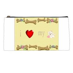 I Love My Dog! Ii Pencil Case by mysticalimages