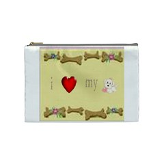 I Love My Dog! Ii Cosmetic Bag (medium)