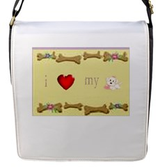 I Love My Dog! Ii Flap Closure Messenger Bag (small) by mysticalimages
