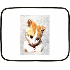 Sweet Face ;) Mini Fleece Blanket (two Sided) by mysticalimages