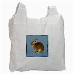 Cute Bunny Recycle Bag (two Sides)