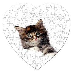 Curious Kitty Jigsaw Puzzle (heart)