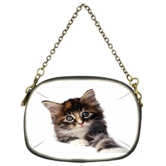 Curious Kitty Chain Purse (two Side) by mysticalimages