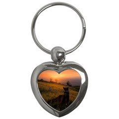 Evening Rest Key Chain (heart) by mysticalimages