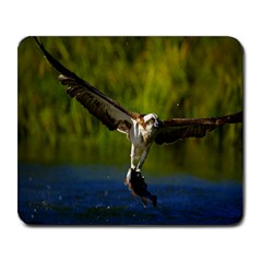 As Powerful As An Eagle s Grip Large Mouse Pad (rectangle)