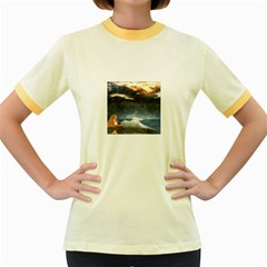 Stormy Twilight  Womens  Ringer T Shirt (colored)