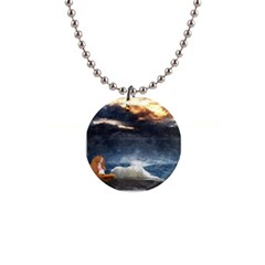 Stormy Twilight  Button Necklace