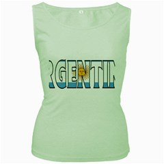 Argentina Womens  Tank Top (green) by worldbanners
