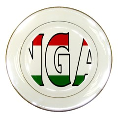 Hungary 3 Porcelain Display Plate by worldbanners