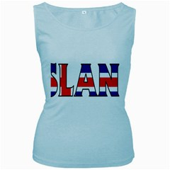 Iceland Womens  Tank Top (baby Blue)