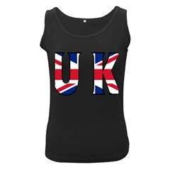 Uk Womens  Tank Top (black) by worldbanners
