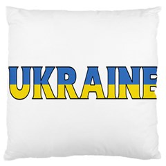 Ukraine Large Cushion Case (one Side) by worldbanners