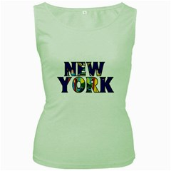 New York Womens  Tank Top (green) by worldbanners