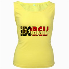 Georgia Womens  Tank Top (yellow)