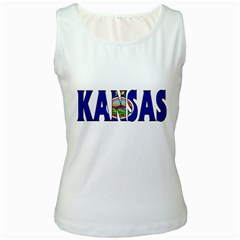 Kansas Womens  Tank Top (white)