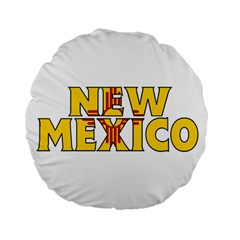 New Mexico 15  Premium Round Cushion  by worldbanners