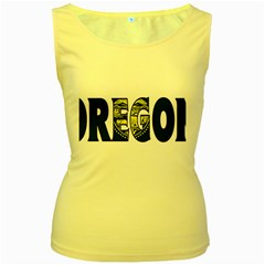 Oregon Womens  Tank Top (yellow) by worldbanners