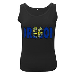 Oregon Womens  Tank Top (black) by worldbanners