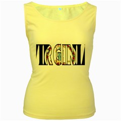 Virginia Womens  Tank Top (yellow) by worldbanners