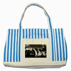 Xtianilogo Blue Striped Tote Bag by StephentKent