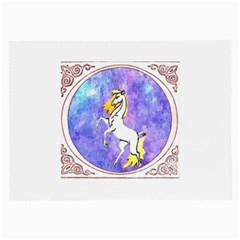 Framed Unicorn Glasses Cloth (large, Two Sided)
