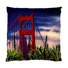 S F Golden Gate Bridge Cushion Case (two Sides) by designsbyvee
