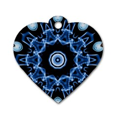 Abstract Smoke  (3) Dog Tag Heart (two Sided)